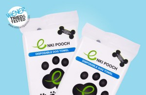Enki Pooch Eco Towel - Wiener Tried and Tesded by Ollie & Penny