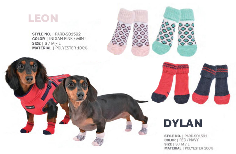 Leon & Dylan Socks - Puppia Spring Summer Collection 2018 - Ollie & Penny Blog Ireland